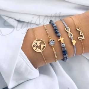 ✨NEW✨ 5pc travel love turtle natural bead bracelet